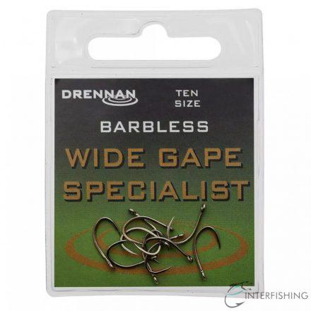 Drennan Wide Gape Specialist Barbless 18 horog