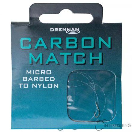 Drennan Carbon Match 20-2lb előkötött horog