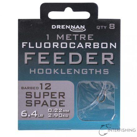 Drennan 1m Fluorocarbon Feeder Rig Super Spade 12 előkötött horog