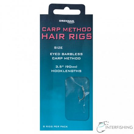 Drennan Carp Method Hair Rigs 14-7 lb előkötött horog