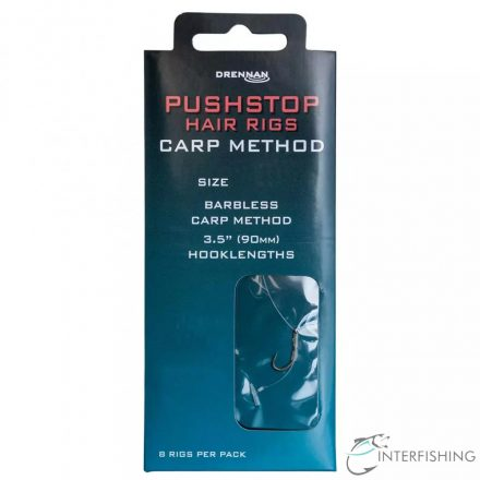 Drennan Pushstop Hair Rig Carp Method 16 előkötött horog
