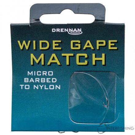 Drennan Wide Gape Match 18-2.8lb előkötött horog