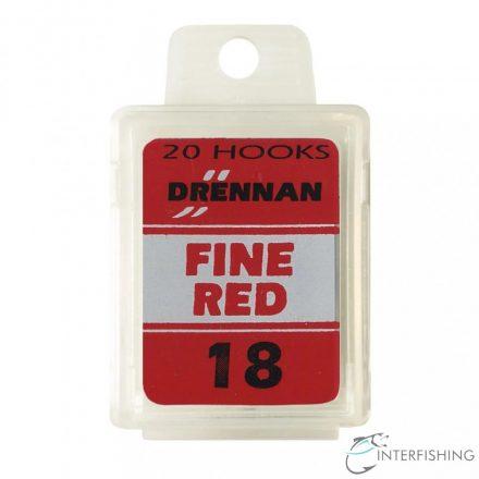 Drennan Fine Red 18 horog