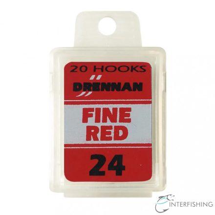 Drennan Fine Red 24 horog